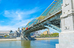Bohdan Khmelnytsky bridge in Moscow Stock Photos