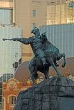 Bohdan Khmelnytsky monument in Kyiv Stock Photography