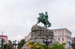 Bohdan Khmelnytsky Monument, Sofievskaya square at Stock Photos