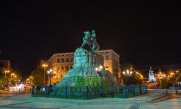 Bohdan Khmelnytsky statue, Kiev, Ukraine, Stock Photo