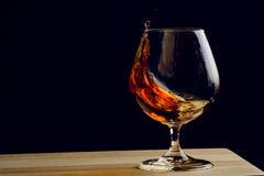 Boheems glas cognac royalty-vrije stock foto's