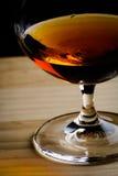 Boheems glas cognac royalty-vrije stock afbeeldingen