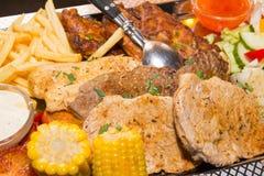 Boheems lapje vleesplateau stock foto's
