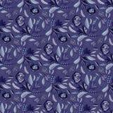 Boheems Retro Bloemen overal Geworpen Patroon, de Hand Getrokken Naadloze Vector Volksillustratie van de Stijlbloem stock illustratie