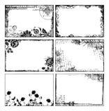 Boheemse bloemenframes vector illustratie