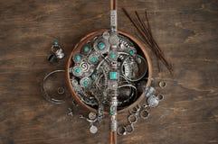 Boheemse elegante juwelen royalty-vrije stock afbeelding