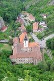 Boheemse kerk in landschap Stock Foto's