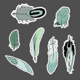 Boheemse reeks verenstickers royalty-vrije illustratie