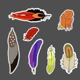 Boheemse reeks verenstickers stock illustratie