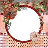 Boheemse van het de stijlplakboek van de Zigeuner van de het albumpagina de lay-out8x8 duim vector illustratie