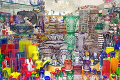 Bohemian Crystals Glass - Prague, Czech Republic Stock Images