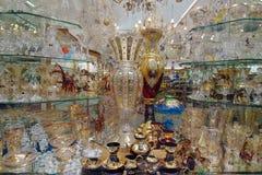Bohemian Crystals Glass - Prague, Czech Republic. Arrangement of Bohemian Crystals Glass - Prague, Czech Republic royalty free stock photo