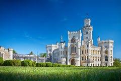 Bohemian castle Hluboka nad Vltavou Royalty Free Stock Photography