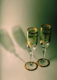 Bohemian crystal champaigne glasses. Champagne glasses of Bohemian Crystal Royalty Free Stock Photos