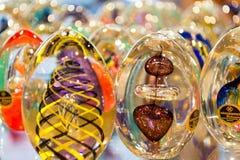 Bohemian crystal eggs Royalty Free Stock Photos