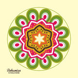 Bohemian design. ornament icon. Multicolored illustration Royalty Free Stock Photo