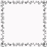 Bohemian Doodle Frame. A rich, textural background for scrapbooking and design, 12x12 inches in size Royalty Free Stock Photos