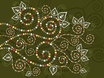 Bohemian ethnic floral curves abstract royalty free stock images