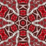Bohemian ethnic ornate mandala in grenadine color with concept of energy and activity. Bohemian ethnic ornate mandala in grenadine color with concept of energy vector illustration