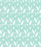 Bohemian feathers and arrows, seamless pattern Stock Image