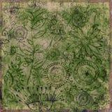 Bohemian Floral Background stock illustration