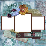 Bohemian Floral Frame Stock Image