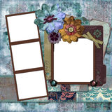Bohemian Floral Frame Stock Photos