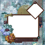 Bohemian Floral Frame Royalty Free Stock Images
