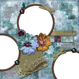 Bohemian Floral Frame Stock Photography