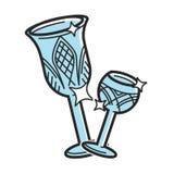 Bohemian glass Czech travel destination, famous culture symbol vector icon. Bohemian glass symbol of Czech Republic for travel destination and famous tourist Royalty Free Stock Photo