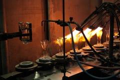 Bohemian glass factory in Svetla nad Sazavou, Czech Republic. Royalty Free Stock Photos