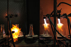 Bohemian glass factory in Svetla nad Sazavou, Czech Republic. Royalty Free Stock Photography