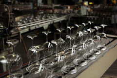 Bohemian glass factory in Svetla nad Sazavou, Czech Republic. Royalty Free Stock Images