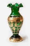 Bohemian glass vase. Blue vase of bohemian glass royalty free stock images