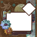 Bohemian Gypsy Floral Frame Royalty Free Stock Images