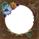 Bohemian Gypsy Floral Frame Royalty Free Stock Photo