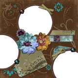 Bohemian Gypsy Floral Frame Stock Photos