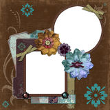 Bohemian Gypsy Floral Frame Stock Photography