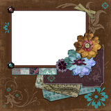 Bohemian Gypsy Floral Frame Stock Images