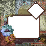 Bohemian Gypsy Floral Frame Royalty Free Stock Photography