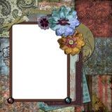 Bohemian Gypsy Floral Frame vector illustration