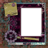 Bohemian Gypsy Floral Frame Royalty Free Stock Photos