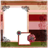 Bohemian Gypsy Scrapbook Album page Layout Stock Photo