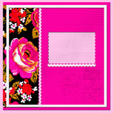 Bohemian Gypsy stile Scrapbook album page Royalty Free Stock Photos