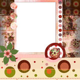 Bohemian Gypsy style scrapbook album page layout 8x8 inches. Stunning scrapbook album page layout 8x8 inches, gypsy bohemian style. Co-ordinates with 10 other vector illustration