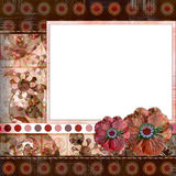 Bohemian Gypsy style scrapbook album page layout 8x8 inches Stock Photography