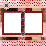 Bohemian Gypsy style scrapbook album page layout 8x8 inches. Stunning scrapbook album page layout 8x8 inches, gypsy bohemian style Royalty Free Stock Photo