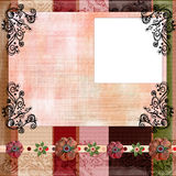 Bohemian Gypsy style scrapbook album page layout 8x8 inches Stock Photos