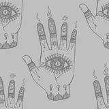 Bohemian Hand Pattern Stock Images