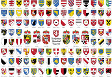 Bohemian historical blazons, Czechs coat of arms, Stock Image